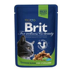 Brit Blue Cat Sterilised Wet Chicken