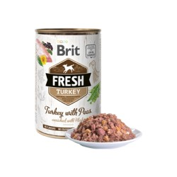 Brit Fresh Dog Turkey with Peas - Wet 6 un.