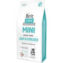 Brit Care Dog Mini Light & Sterilised Grain-free - Rabbit & Salmon